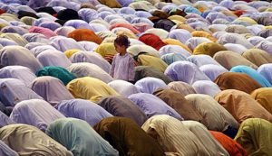 Eid prayer on the Red Road in Kolkata, India